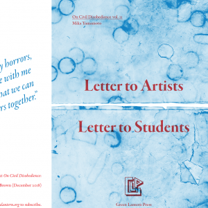 Letter to Artists & Letter to Students